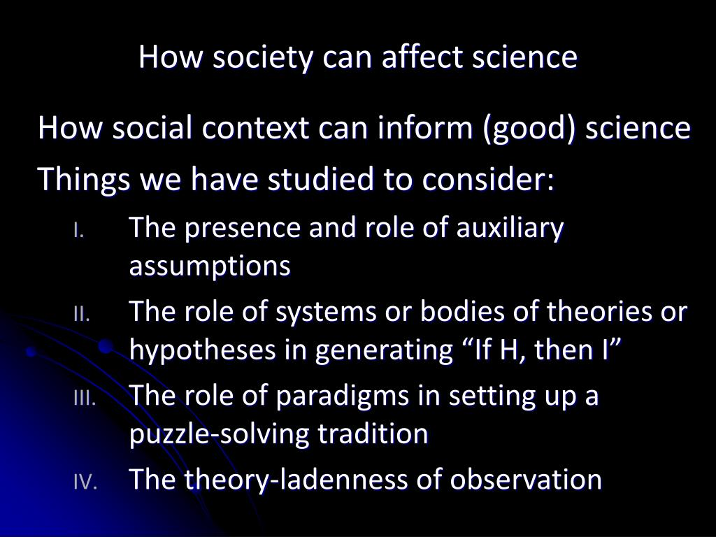 things that affect society