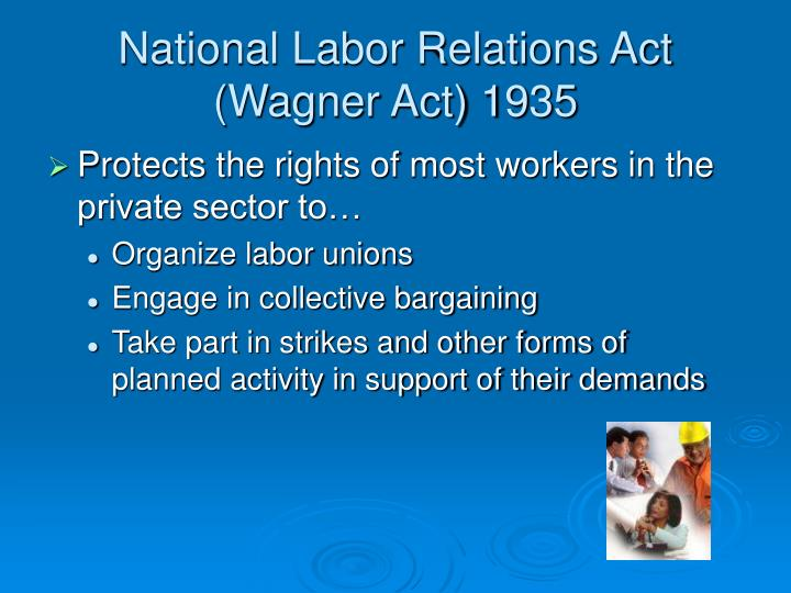 the labor relations act 66 of The national labor relations act has never explicitly required political balance in the national labor relations board¿s (nlrb or board) appointment process but the eisenhower administration demonstrated that policy shifts could be initiated through changes in nlrb composition.