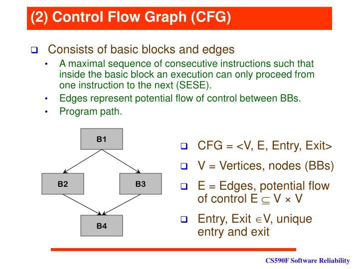(2) Control Flow Graph (CFG)