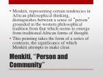 menkiti person and community