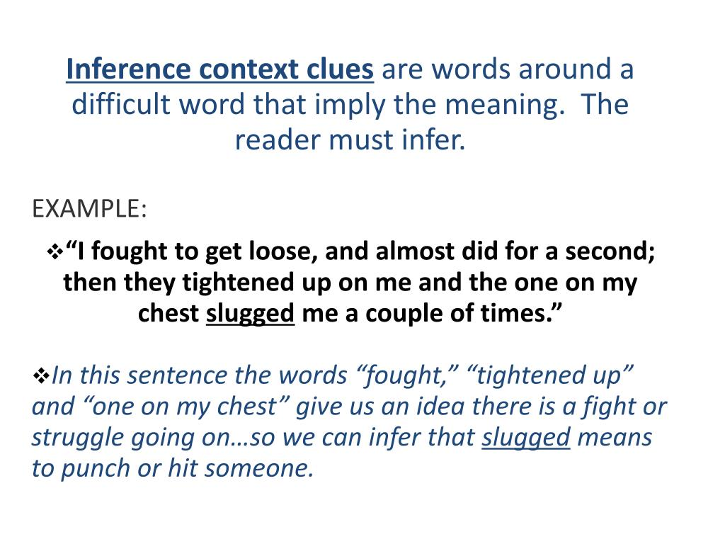 PPT - Context Clues PowerPoint Presentation - ID:3093504
