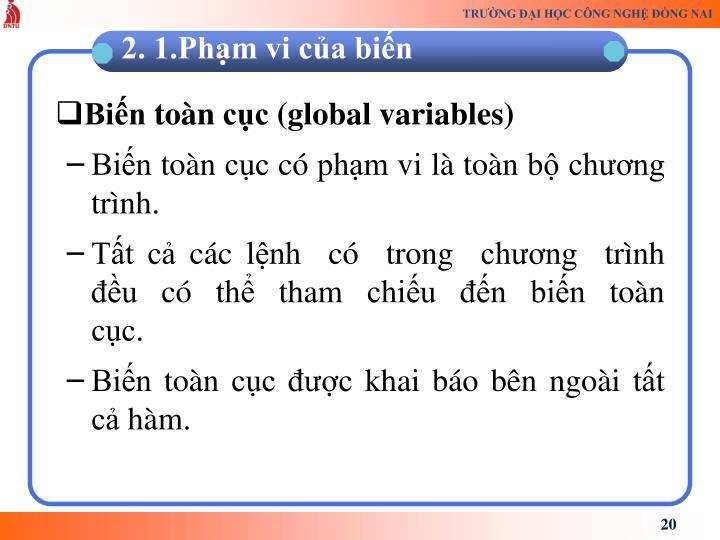 Biến toàn cục (global variables)