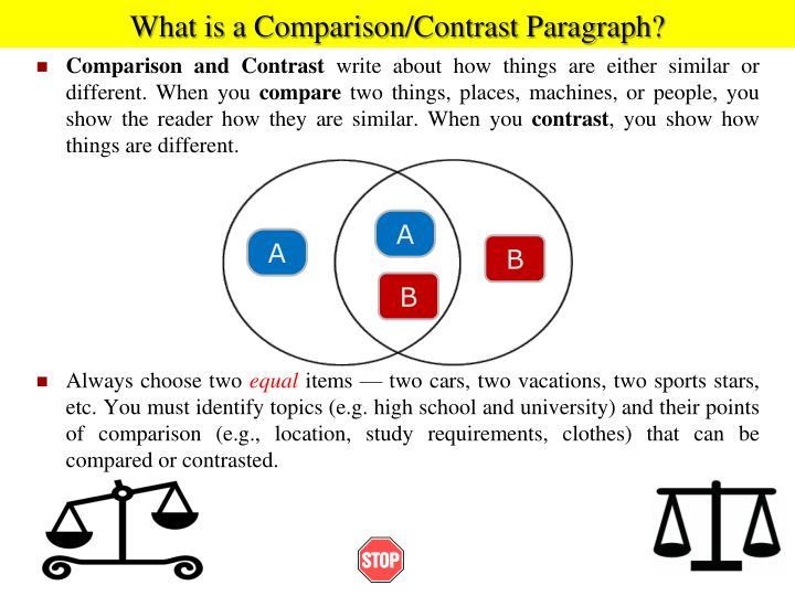 paragraph of comparison