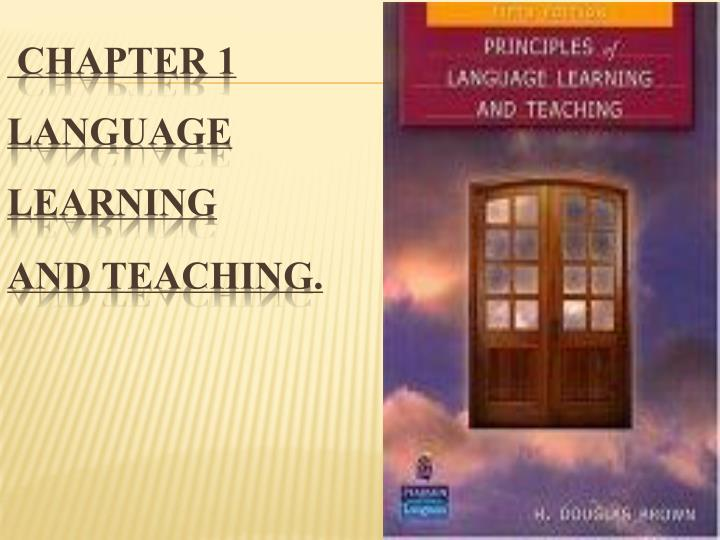 chapter 1 language learning and teaching n.