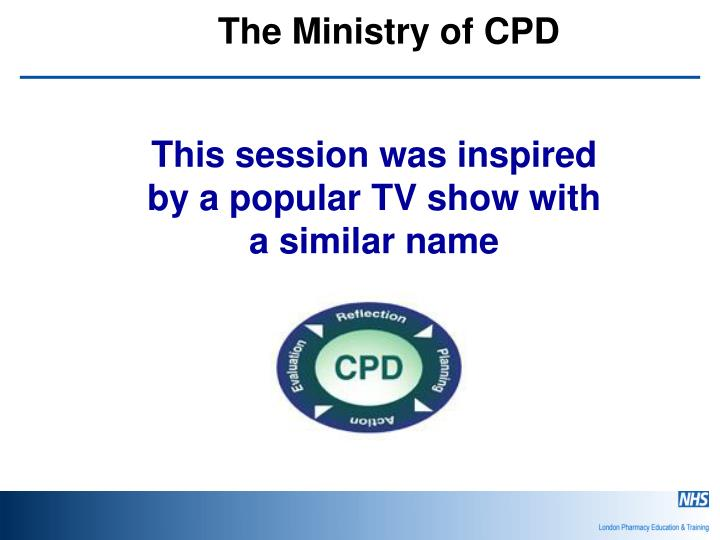 the ministry of cpd n.