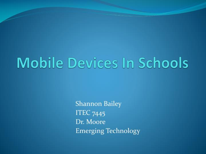 mobile devices in schools n.