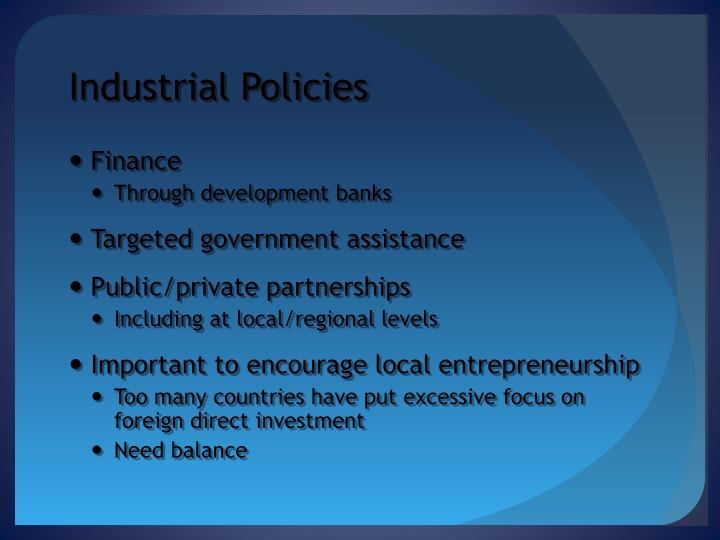 Industrial Policies