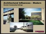 architectural influences modern sinclair community college