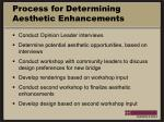 process for determining aesthetic enhancements