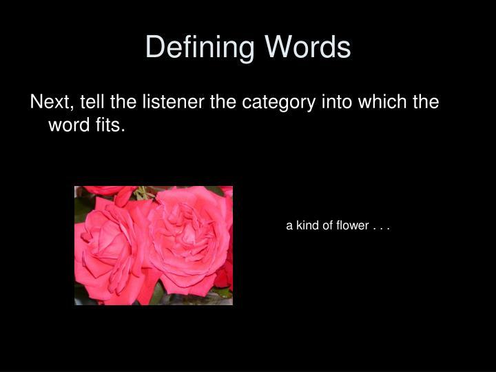 Defining words1