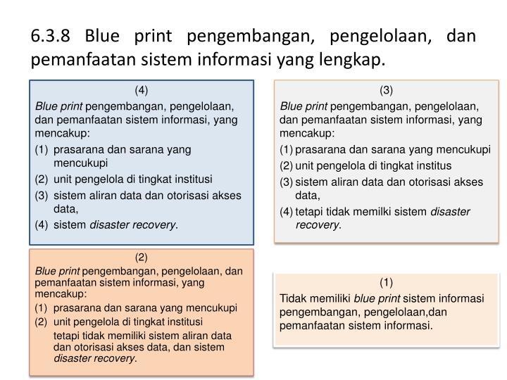 Ppt standar 6 powerpoint presentation id3093824 638 blue print pengembangan pengelolaan danpemanfaatansisteminformasi malvernweather Choice Image