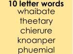 10 letter words2