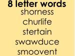 8 letter words1
