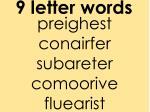 9 letter words1
