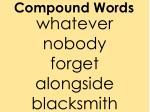 compound words1