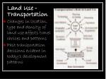 land use transportation
