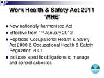 work health safety act 2011 whs