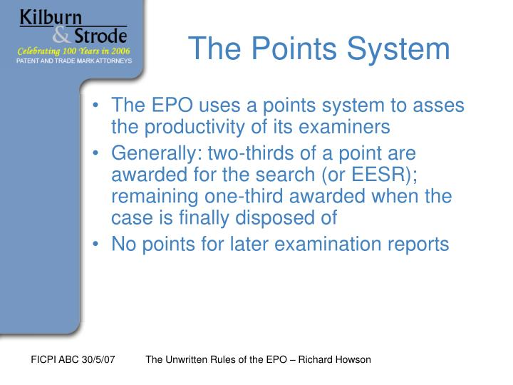 The Points System