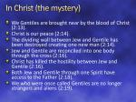 in christ the mystery