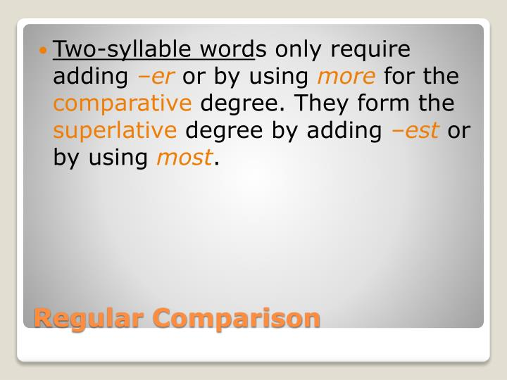 Two-syllable word