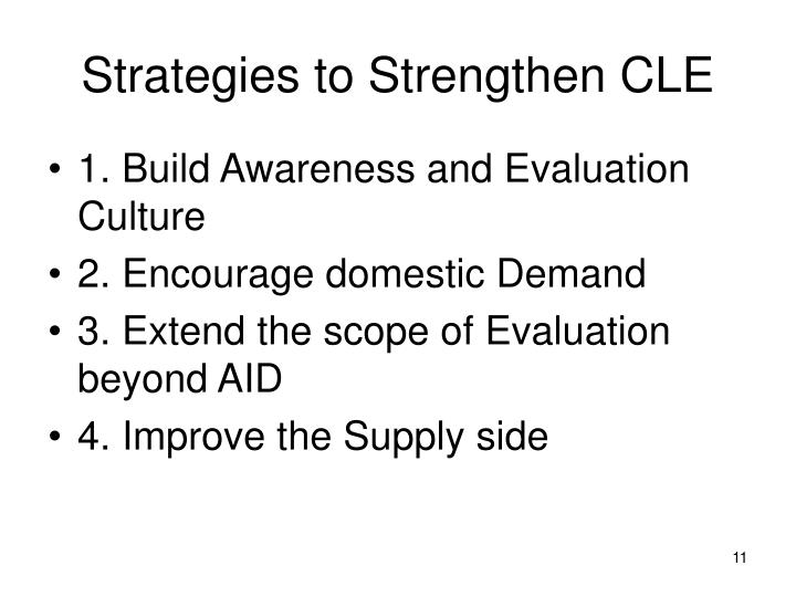 Strategies to Strengthen CLE