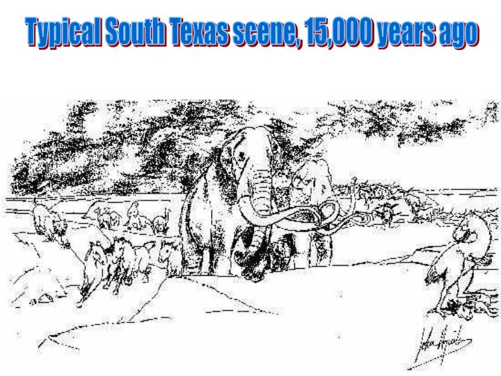 Typical South Texas scene, 15,000 years ago