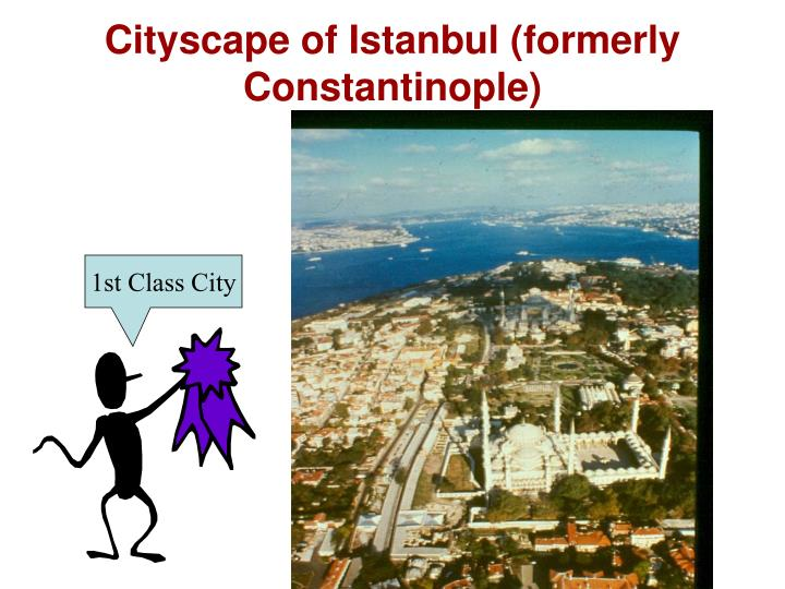 Cityscape of Istanbul (formerly Constantinople)