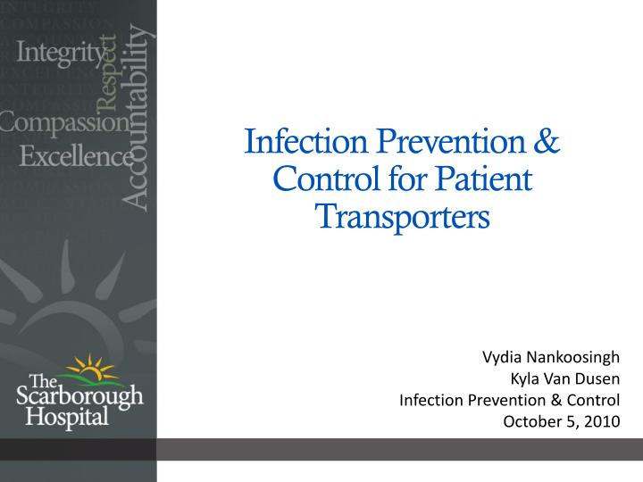 infection prevention control for patient transporters n.
