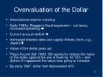 overvaluation of the dollar
