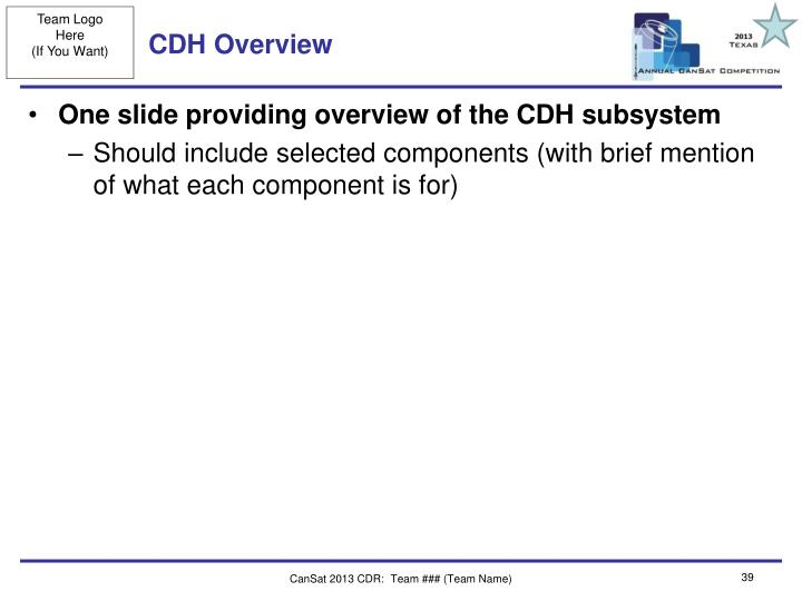 CDH Overview