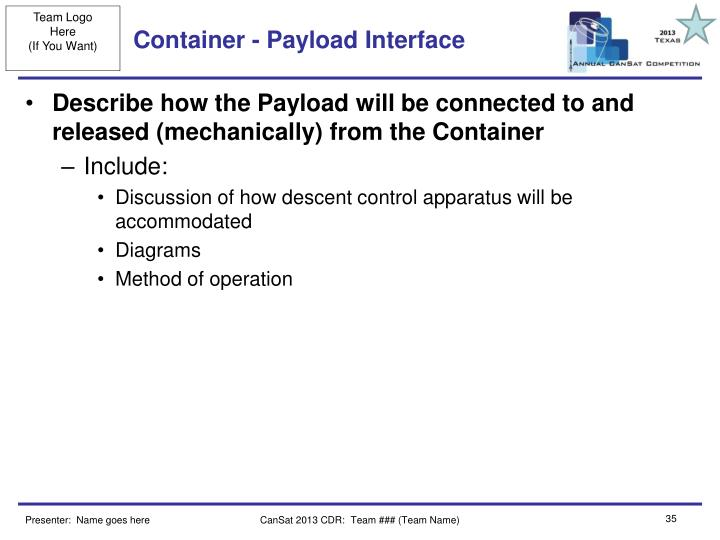 Container - Payload Interface
