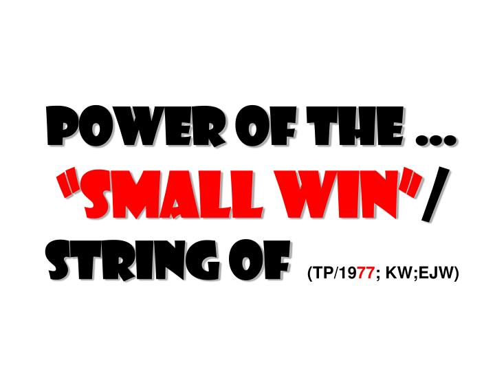 Power of the …