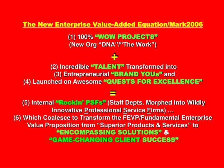 The New Enterprise Value-Added Equation/Mark2006