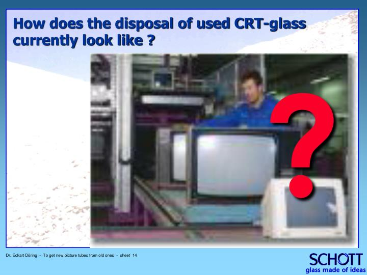 How does the disposal of used CRT-glass