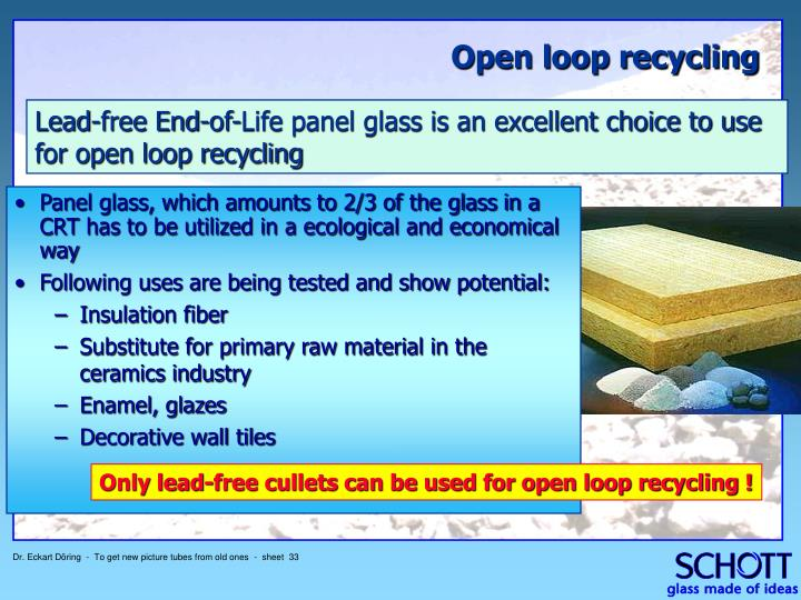 Panel glass, which amounts to 2/3 of the glass in a