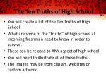 the ten truths of high school