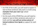 the ten truths of high school1