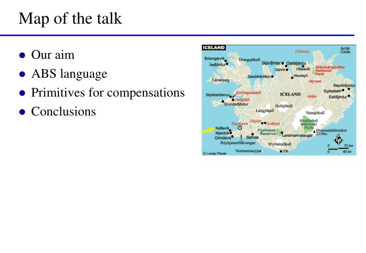 Map of the talk