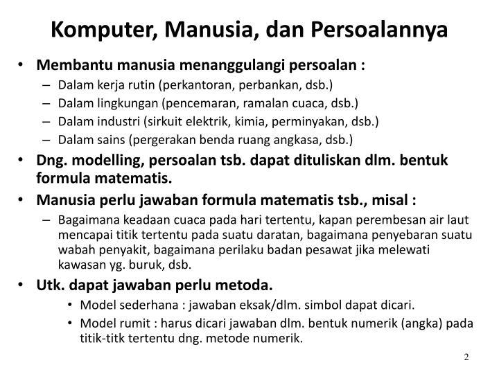 Komputer manusia dan persoalannya