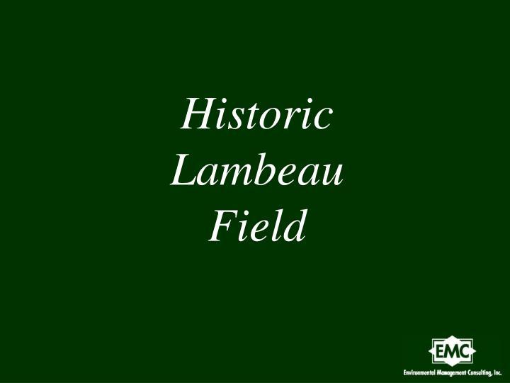 Historic Lambeau Field
