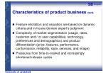 characteristics of product business cont
