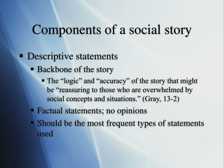 Components of a social story