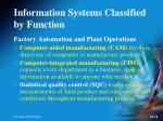 information systems classified by function8