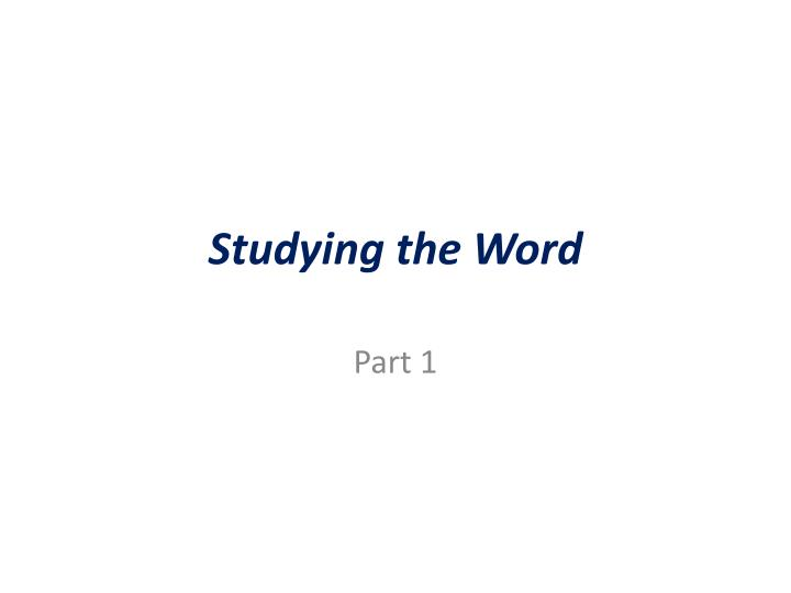 studying the word n.
