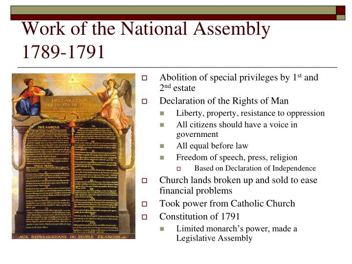 Work of the National Assembly