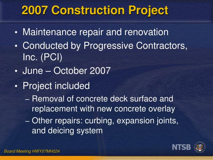 2007 construction project