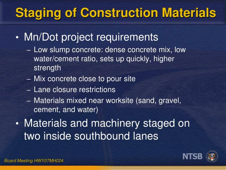 Staging of Construction Materials