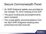 secure commonwealth panel