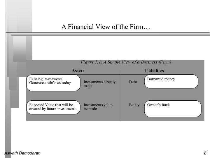 A financial view of the firm