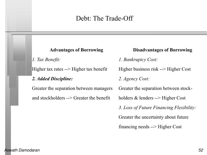 Debt: The Trade-Off